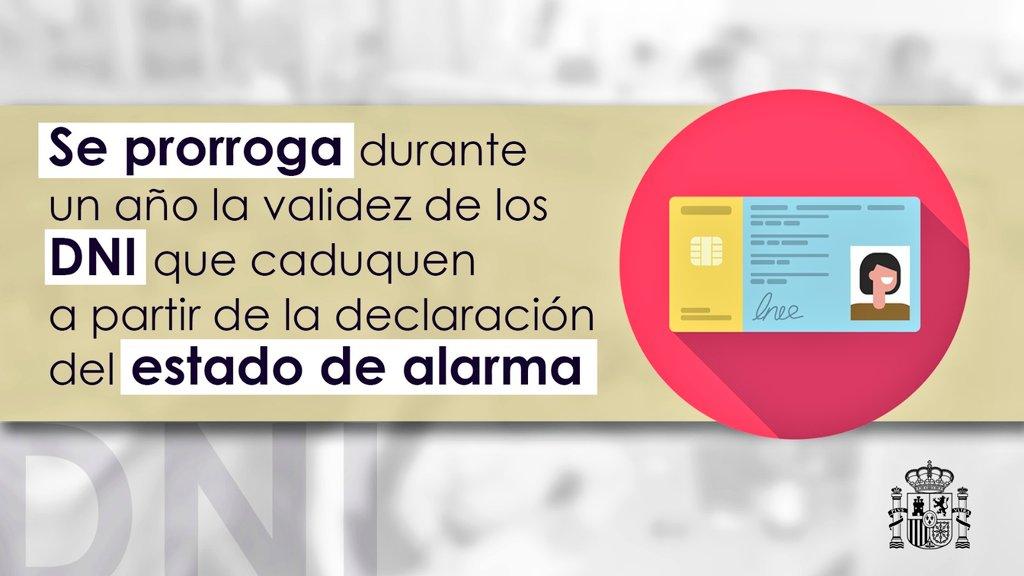 PRÓRROGA VALIDEZ DNI Y PERMISO DE CONDUCIR DURANTE EL ESTADO DE ALARMA #COVID-19