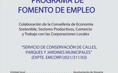 PROGRAMA DE FOMENTO DE EMPLEO «EMCORP 2021»
